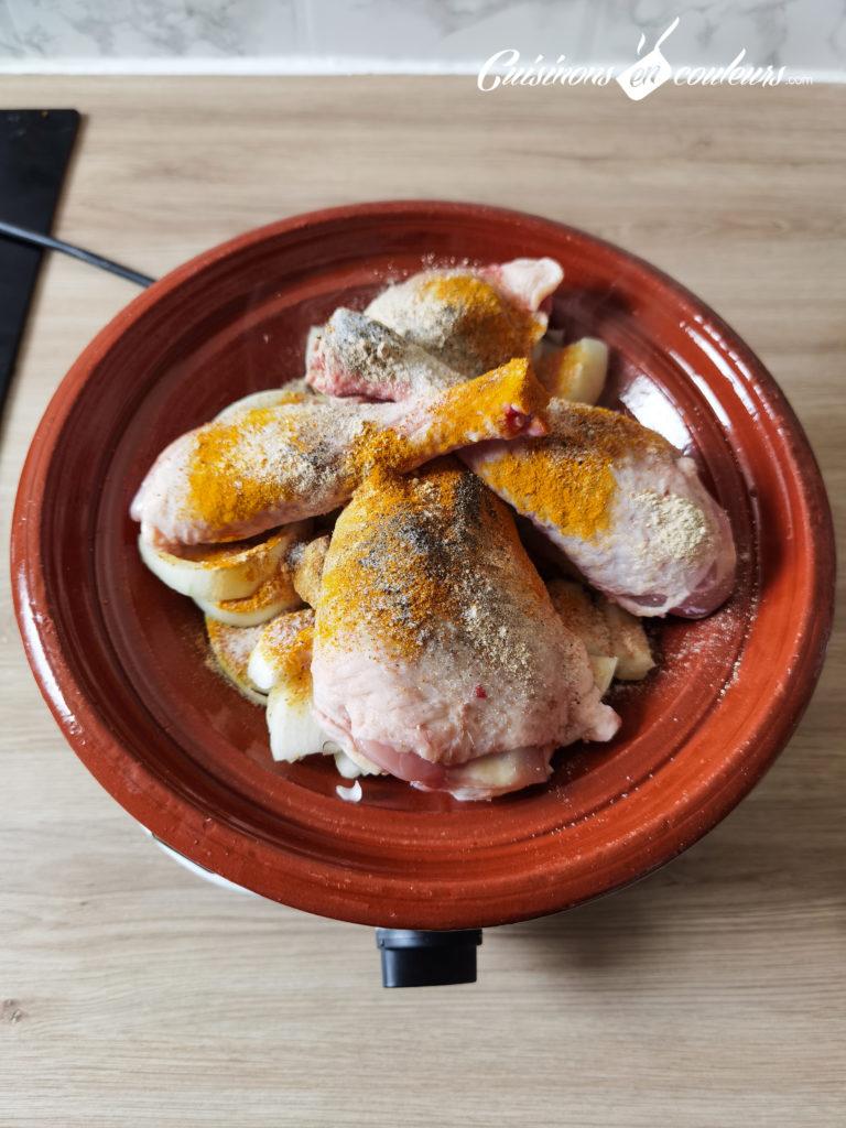 tajine-poulet-frites-3-768x1024 - Tajine de poulet mqualli aux olives et citron confit