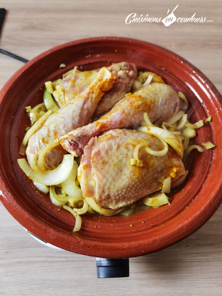 tajine-poulet-frites-4-768x1024 - Tajine de poulet mqualli aux olives et citron confit